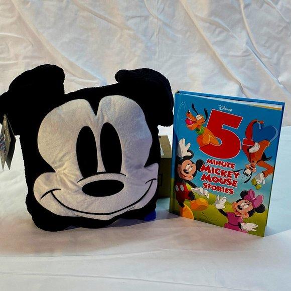 Disney Mickey Mouse Fleece Throw & Book
